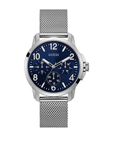 Guess Chronograph Silvertone Mesh Bracelet Watch-SILVER-One Size