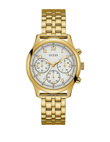 Guess Chronograph Goldtone Bracelet Watch-GOLD-One Size