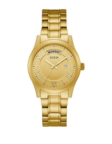 Guess Analog Brushed Goldtone Bracelet Watch-GOLD-One Size
