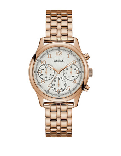 Guess Chronograph Rose-Goldtone Bracelet Watch-ROSE GOLD-One Size