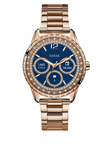 Guess Analog Touchscreen Rosegold Stainless Steel Bracelet Watch-ROSE GOLD-One Size