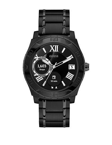 Guess Analog Touchscreen Black Stainless Steel Bracelet Watch-BLACK-One Size