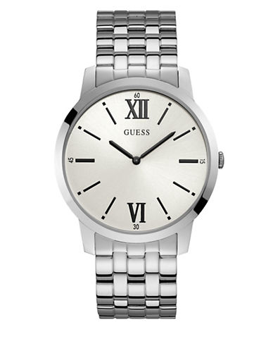 Guess Silvertone Stainless Steel U1073G1 Watch-SILVER-One Size
