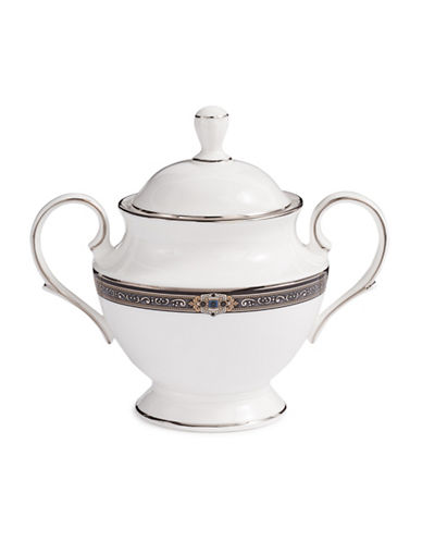 Lenox Vintage Jewel Sugar Bowl-WHITE-One Size