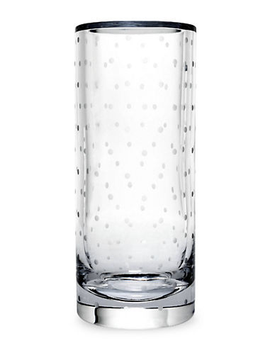 Kate Spade New York Larabee Dot Cylinder Vase-CLEAR-One Size