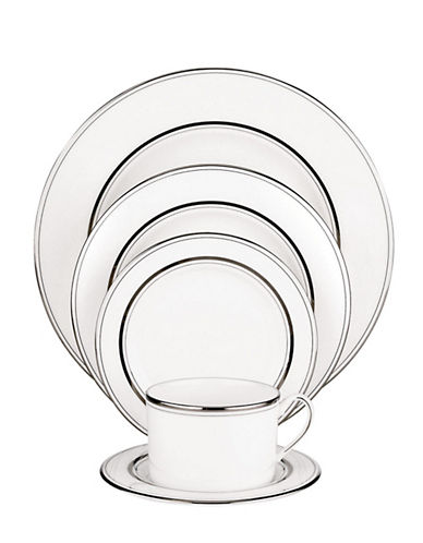 Kate Spade New York Library Lane Platinum 5 Piece Place Setting-WHITE-One Size