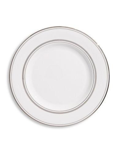 Kate Spade New York Library Lane Platinum Salad Plate-WHITE-One Size