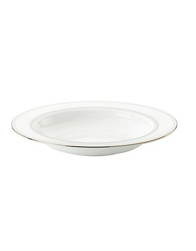 Kate Spade New York Library Lane Pasta Or Soup Bowl-WHITE-One Size