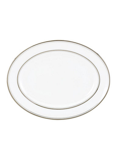 Kate Spade New York Library Lane Oval Platter-WHITE-One Size
