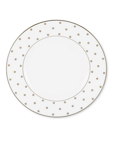 Kate Spade New York Larabee Road Platinum Accent Plate-WHITE-One Size