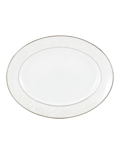 Kate Spade New York Bonnabel Place Oval Platter-WHITE-One Size