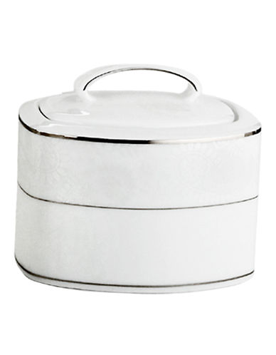 Kate Spade New York Bonnabel Place Sugar Bowl with Lid-WHITE-One Size