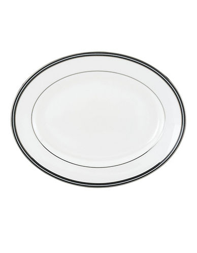Kate Spade New York Union Street Oval Platter-WHITE-One Size