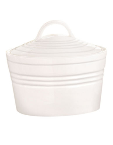 Lenox Tin Can Alley Sugar With Lid-WHITE-One Size