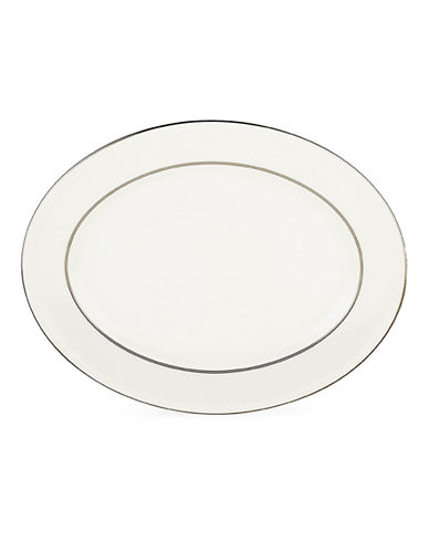 Kate Spade New York Cypress Point Oval Platter-WHITE-One Size
