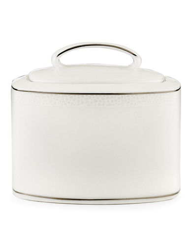 Kate Spade New York Cypress Point Sugar with Lid-WHITE-One Size