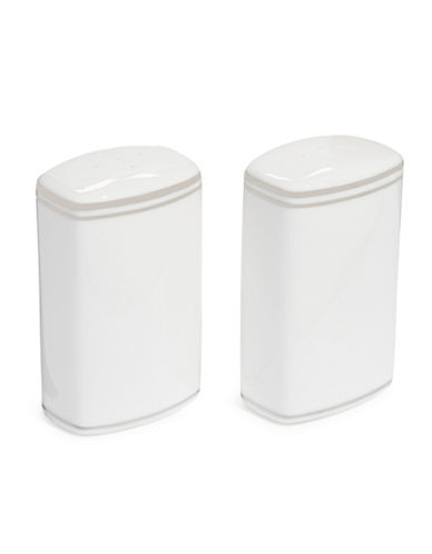 Kate Spade New York Library Lane Platinum Salt and Pepper Shaker Set-WHITE-One Size