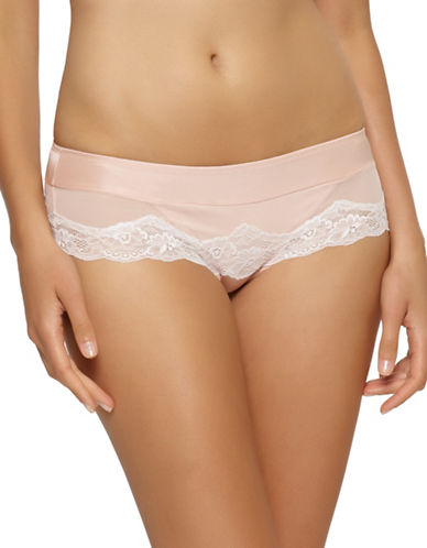 Unveiled Solid Lace Trimmed Panty-BEIGE-Large