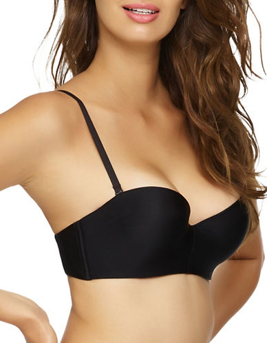 Unveiled Entre Doux Strapless Push-Up Bra-BLACK-36C