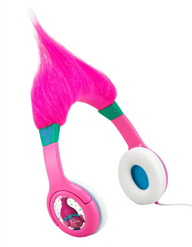 Ekids Trolls Hair-ific Headphones-MULTI-One Size