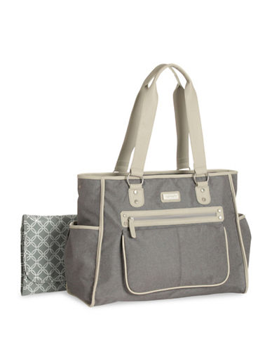 CarterS City Tote Diaper Bag-GREY-One Size
