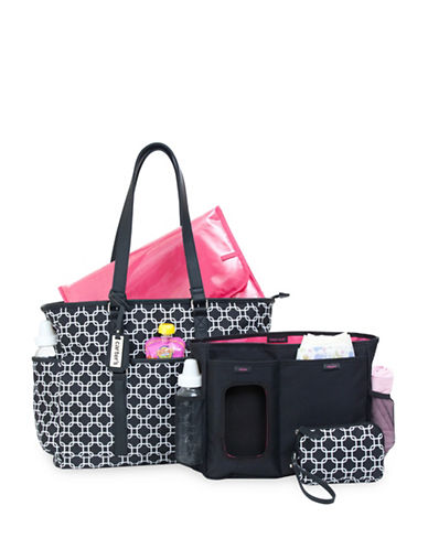 CarterS Studio Tote Diaper Bag-BLACK-One Size