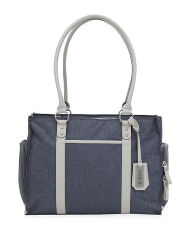 Bananafish Charlotte Breast Pump Crosshatch Tote-GREY-One Size