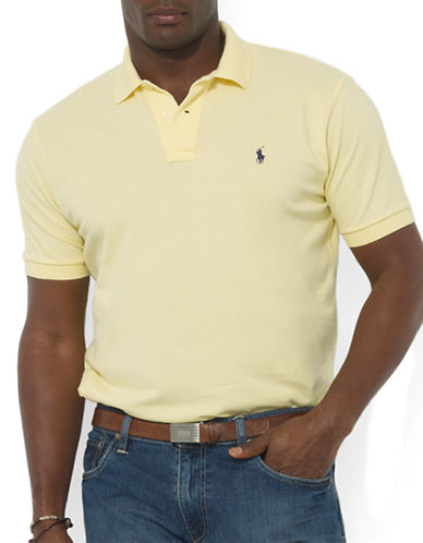 Polo Ralph Lauren Big and Tall Classic-Fit Short-Sleeved Cotton Mesh Polo-WICKED YELLOW-3X Big