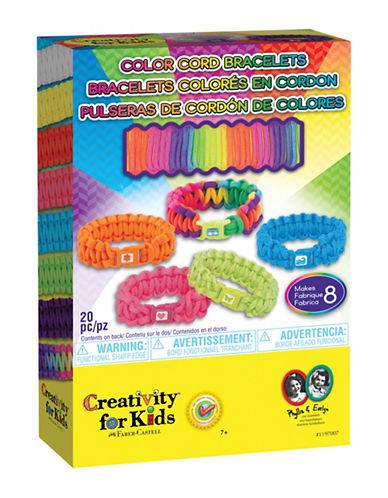 Creativity For Kids Color Cord Bracelet Kit-MULTI-One Size