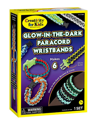 Creativity For Kids Glow-in-the-Dark Paracord Wristband Kit-MULTI-One Size