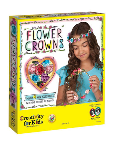 Creativity For Kids Flower Crown Kit-MULTI-One Size