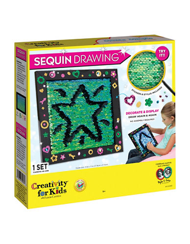 Creativity For Kids Sequin Drawing Fabric-MULTI-One Size
