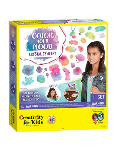 Creativity For Kids Color Your Mood Crystal Jewelry-MULTI-One Size