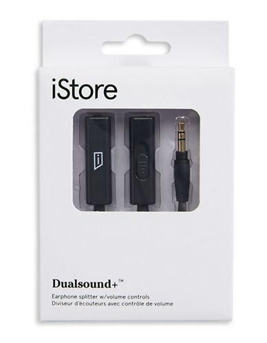 Istore Dualsound Earphone Splitter-BLACK-One Size
