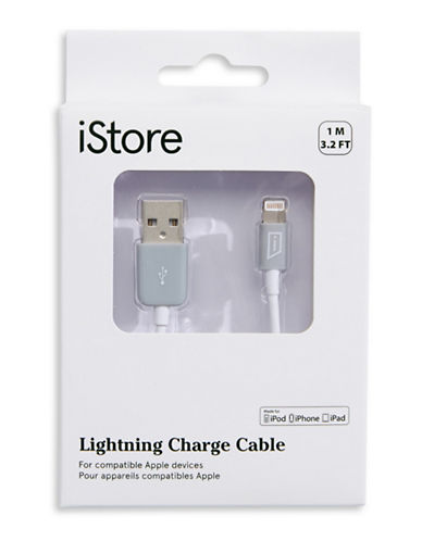 Istore 1M Lightning Charge Cable-WHITE-One Size