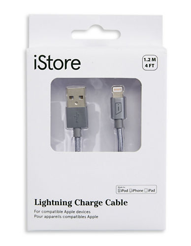 Istore 1.2M Lightning Charge Cable-GREY-One Size