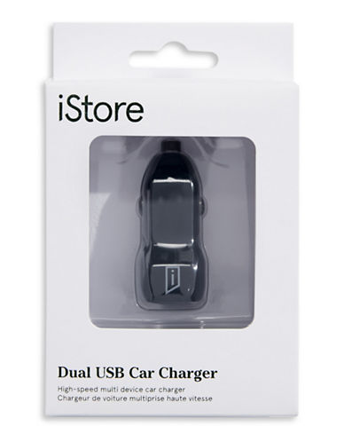 Istore Dual USB Car Charger-BLACK-One Size