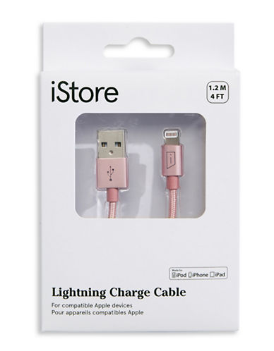 Istore 1.2M Lightning Charge Cable-ROSE GOLD-One Size
