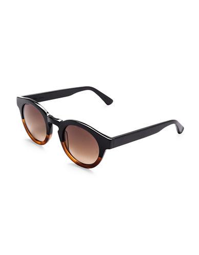 Sunday Somewhere Soelae 46mm Two-Tone Round Sunglasses-BLACK-One Size