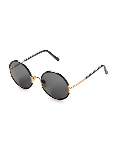 Sunday Somewhere Yetti 53mm Round Sunglasses-BLACK-One Size