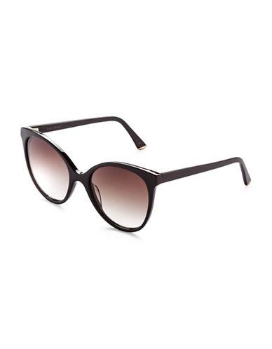 Sunday Somewhere Lily 55mm Round Sunglasses-BLACK-One Size