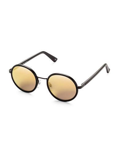 Sunday Somewhere Ned 55mm Round Sunglasses-GOLD-One Size
