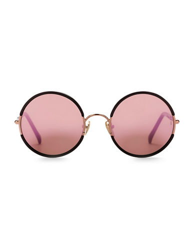 Sunday Somewhere Yetti 53mm Round Sunglasses-ROSE-One Size