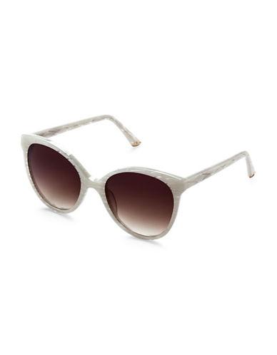 Sunday Somewhere Lily 55mm Round Sunglasses-WHITE-One Size
