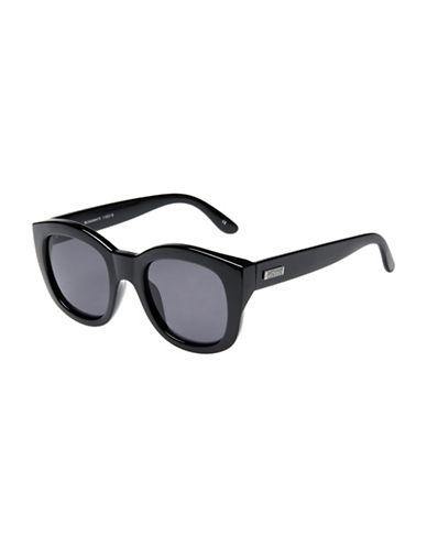 Le Specs Runaways 50mm Rectangular Sunglasses-BLACK-One Size