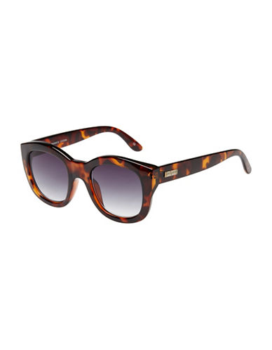 Le Specs Runaways 50mm Rectangular Sunglasses-BROWN-One Size