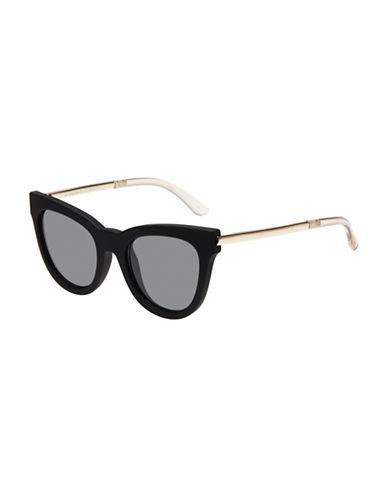 Le Specs Le Debutante 51mm Cat-Eye Sunglasses-BLACK-One Size