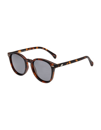 Le Specs Bandwagon 51mm Round Sunglasses-BROWN-One Size