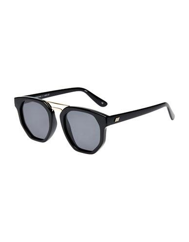 Le Specs Thunderdome 52mm Aviator Sunglasses-BLACK-One Size