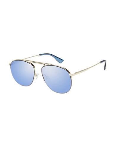 Le Specs Liberation 52mm Aviator Sunglasses-GREY-One Size